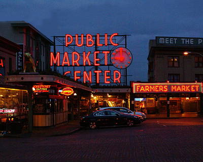 Seattle Public Market Art Print by Sonja Anderson