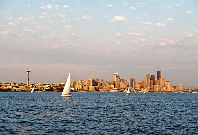 Seattle Puget Sound Art Print by Tom Dowd