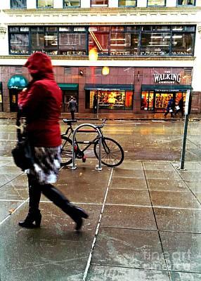 Photograph - Seattle Rain by Jenny Revitz Soper