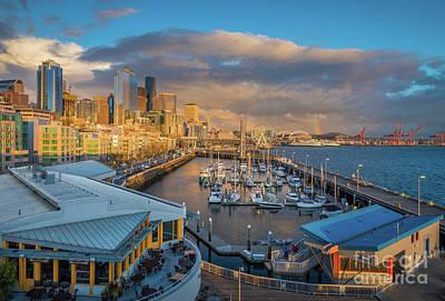 Photograph - Seattle Rainbow by Inge Johnsson