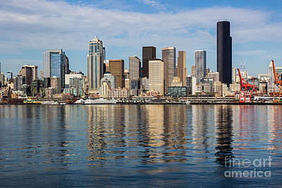 Photograph - Seattle Reflection by Suzanne Luft