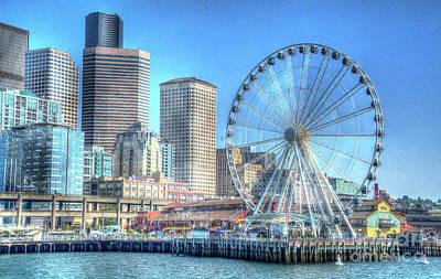 Photograph -  Seattle Sailing by Deborah Klubertanz