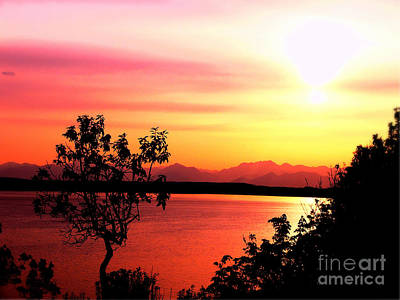 Sky Photograph - Seattle Scenic Sunset by Scott Cameron