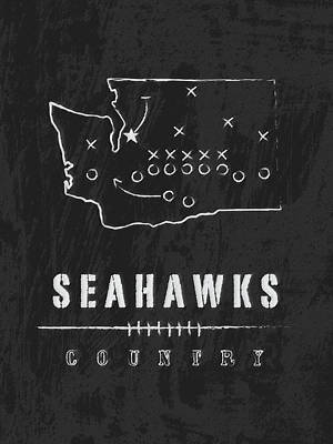 Seattle Seahawks Art - Nfl Football Wall Print Art Print by Damon Gray