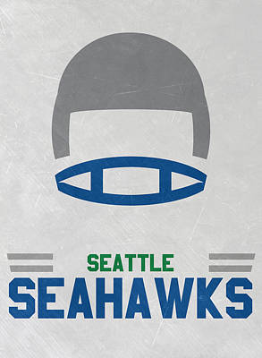 Mixed Media - Seattle Seahawks Vintage Art by Joe Hamilton