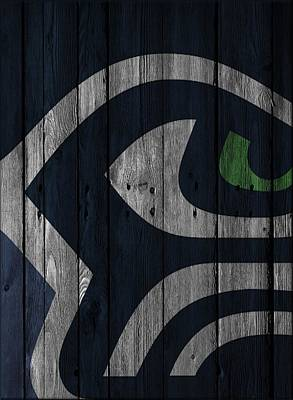 Galaxies Photograph - Seattle Seahawks Wood Fence by Joe Hamilton