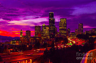 Photograph - Seattle Shades Of Purple by Louise Magno