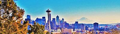 Seattle Sky Art Print by Martin Cline