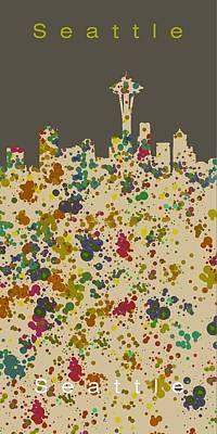 City Digital Art - Seattle Skyline 1 by Alberto RuiZ