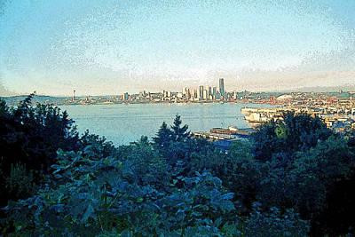 Seattle Skyline 2 Art Print by Steve Ohlsen