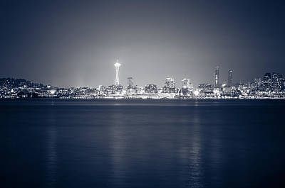 Photograph - Seattle Skyline At Night by Anthony Doudt