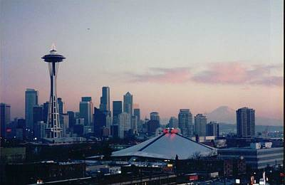 Seattle Skyline At Sunset Original by Maro Kentros