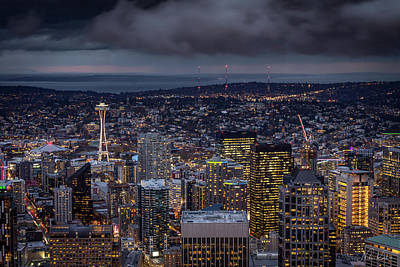 Photograph - Seattle Skyline by Framing Places