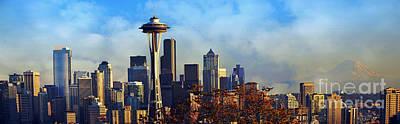 Photograph - Seattle Skyline by Frank Larkin