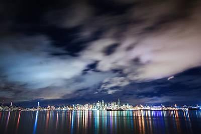 Seattle Skyline From Alki Beach  Art Print