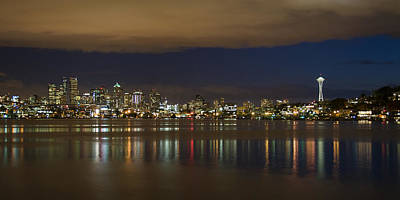 Seattle Skyline From Gasworks Park 2562 Art Print