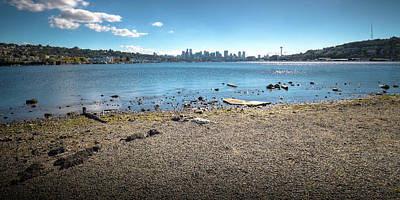 Photograph - Seattle Skyline From Gasworks Park by David Patterson