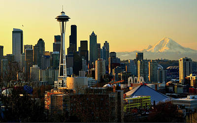 Seattle Skyline Art Print