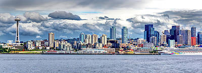 Photograph - Seattle Skyline Hdr by Rob Green