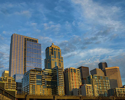 Photograph - Seattle Skyline by Jerry Cahill