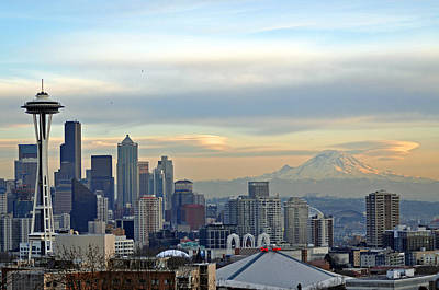 Seattle Skyline Art Print by Matthew Adair