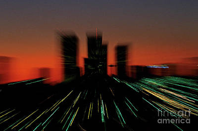 Photograph - Seattle Skyline Motion by Jim Corwin