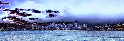 Photograph - Seattle Skyline Panorama by David Patterson