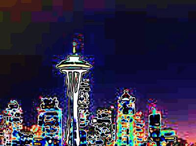 Seattle Skyline Art Print by Tim Allen