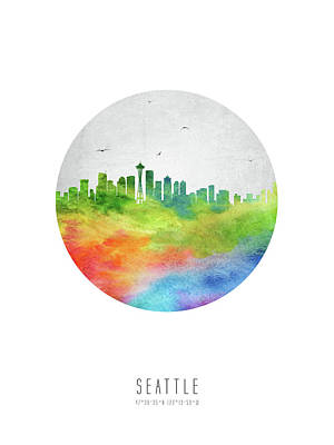 Seattle Skyline Digital Art - Seattle Skyline Uswase20 by Aged Pixel