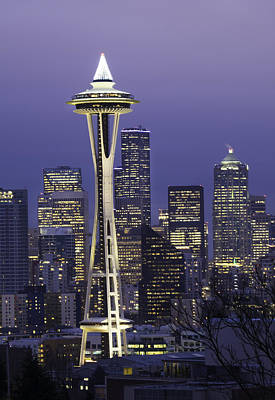Seattle Space Needle 0200 Art Print