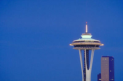 Seattle Space Needle Art Print by Greg  West