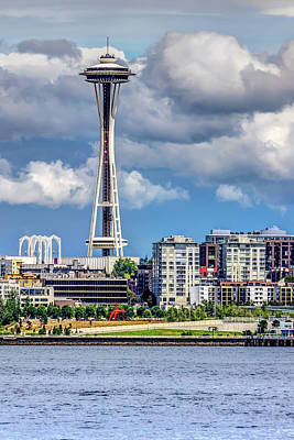 Photograph - Seattle Space Needle Hdr by Rob Green