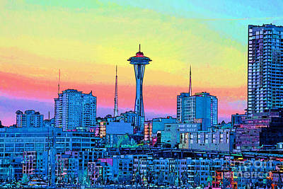 Seattle Space Needle Art Print by RJ Aguilar