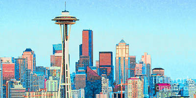 Photograph - Seattle Space Needle Skyline 20180506 by Wingsdomain Art and Photography