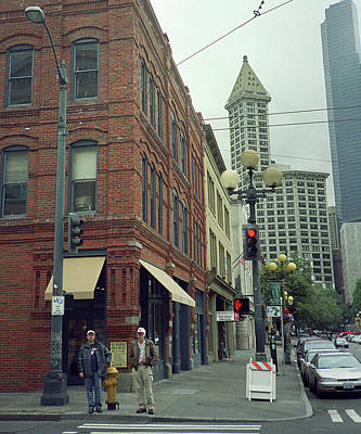 Seattle Street Corner, 2007 Art Print