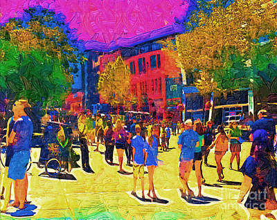 Digital Art - Seattle Street Scene by Kirt Tisdale