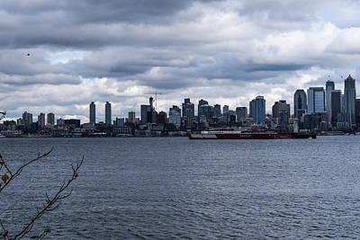 Photograph - Seattle Sun Breaks by Tom Cochran