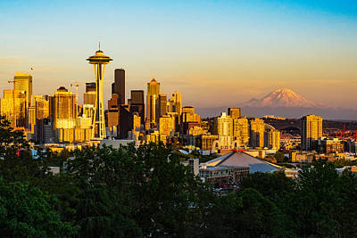 Photograph - Seattle Sunset by Dave Files