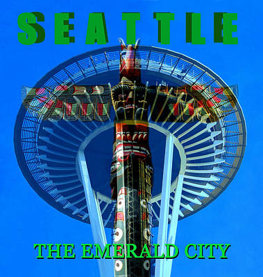 Photograph - Seattle The Emerald City by David Lee Thompson