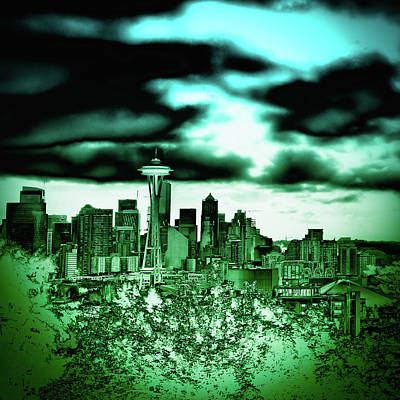 Space Needle Photograph - Seattle - The Emerald City by David Patterson