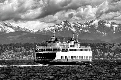Photograph - Seattle To Bremerton Ferry by Greg Sigrist
