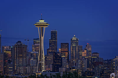Photograph - Seattle Twilight by Rick Berk