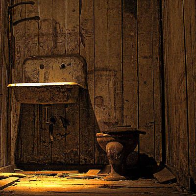 Photograph - Seattle Underground Bathroom by David Patterson