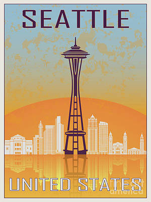 Seattle Vintage Poster Art Print