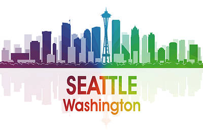 Icon Mixed Media - Seattle Wa by Angelina Vick