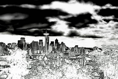 Photograph - Seattle Washington Skyline by David Patterson