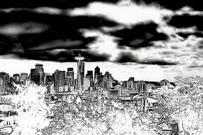 Photograph - Seattle Washington Skyline by David Patterson