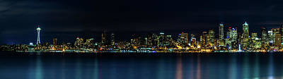 Photograph - Seattle Washington Skyline Panoramic by TL Mair