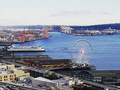 Photograph - Seattle Waterfront by Michael Merry