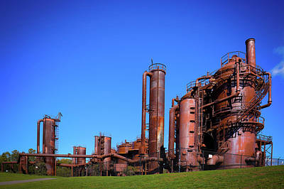 Photograph - Seattle's Gasworks Park by David Patterson